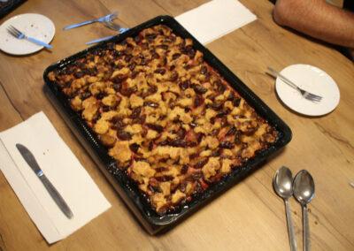 Der fertige Pflaumenkuchen